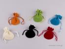 Πουγκί βελούδο οβάλ χρώματα Νο1
