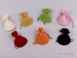 Velvet oval pouch No 2 in multiple colors