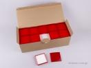 Κουτί Ημιδιάφανο για Μενταγιόν, η και Σκουλαρίκια κόκκινο