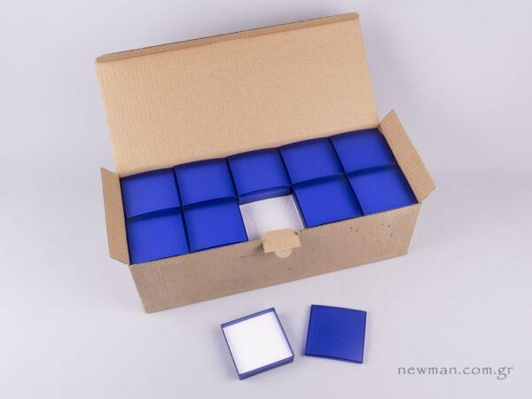 Κουτί Ημιδιάφανο για Μενταγιόν, η και Σκουλαρίκια μπλε