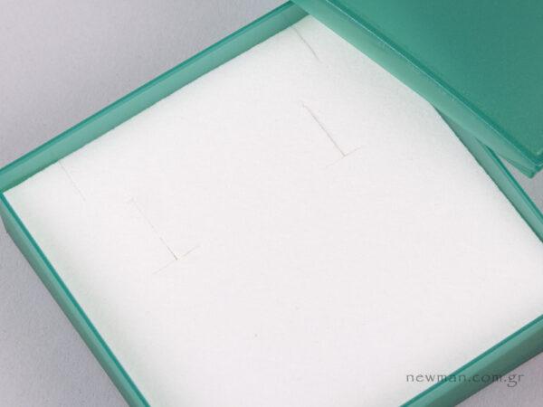 Κουτί Ημιδιάφανο για Μενταγιόν, η και Σκουλαρίκια πράσινο