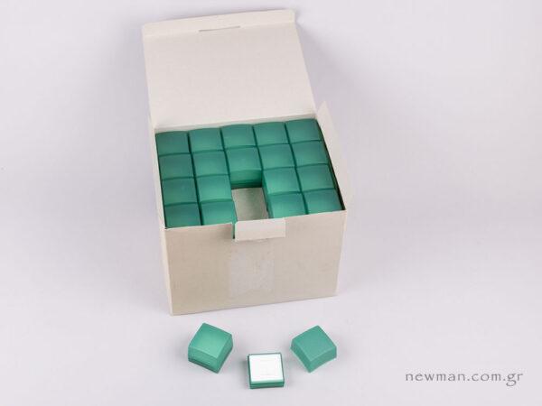 Κουτί Ημιδιάφανο για Δαχτυλίδι Πράσινο