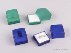 Κουτί Ημιδιάφανο για Δαχτυλίδι Μπλε Ηλεκτρίκ και πράσινο