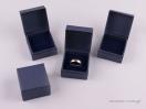 Κουτί δαχτυλίδι μπλε ρίγα