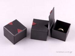 Κουτί δαχτυλίδι συρτάρι Μαύρο/Μπορντώ