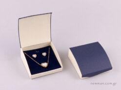 Κουτί μενταγιόν & σκουλαρίκια μπλε εκρού