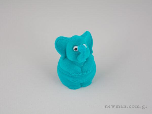 Παιδικό κουτί κοσμημάτων σιέλ ελεφαντάκι