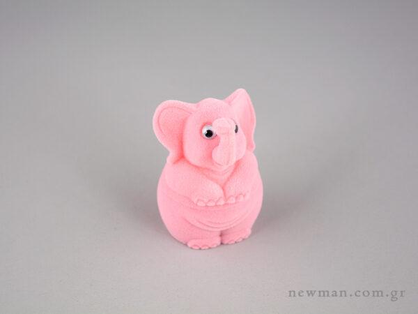 Παιδικό κουτί κοσμημάτων σιέλ ελεφαντάκι ροζ