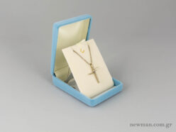 Κουτί για βαφτιστικό σταυρό με εσωτερική βάση που ανασηκώνεται