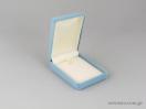 Κουτιά από βελούδο σε σιέλ χρώμα με μωρό για βαπτιστικούς σταυρούς