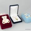 Παιδικό κουτί κοσμημάτων μικρό βελούδο αρκουδάκι