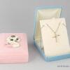 Κουτιά για παιδικά κολιέ σε ροζ και σιέλ χρώμα