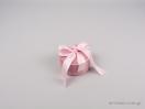 Παιδικό κουτί για κοσμήματα. Κουτί για βαπτιστικό σταυρό, στρογγυλό, σουέτ με σατέν κορδέλα