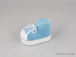 Παιδικό κουτί κοσμημάτων σε σχήμα παπουτσιού σε σιέλ χρώμα