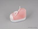 Παιδικό κουτί κοσμημάτων σε σχήμα παπουτσιού σε ροζ χρώμα