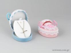 Κουτί για βαπτιστικό σταυρό σε σχήμα καλαθούνα