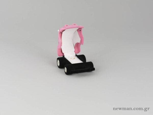 Kids Box - Scarab VW Car - Pink (open)