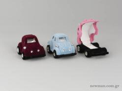 Κουτιά για παιδικό δαχτυλίδι σε μπορντώ, σιέλ και ροζ χρώμα