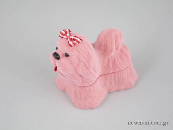Παιδικά κουτιά κοσμημάτων σκυλάκια σε ροζ χρώμα