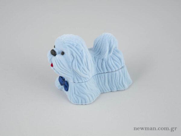 Παιδικά κουτιά κοσμημάτων σκυλάκια σε σιέλ χρώμα