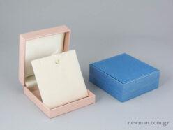 Παιδικό κουτί Εlegant metal για σταυρούς σε μπλε ανοιχτό και ροζ χρώμα