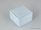 Υφασμάτινο κουτί κοσμημάτων με κορδέλα και μαξιλαράκι σιέλ χρώμα