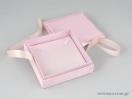 Υφασμάτινο κουτί κοσμημάτων ροζ