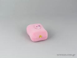 Κουτί από βελούδο για βαπτιστικούς σταυρούς σε ροζ χρώμα