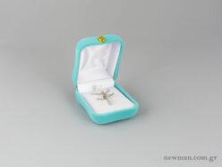 Κουτιά για παιδικούς και βαπτιστικούς σταυρούς σε σιέλ χρώμα