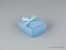 Βελούδινο κουτί με φιόγκο για σταυρό σε ροζ χρώμα