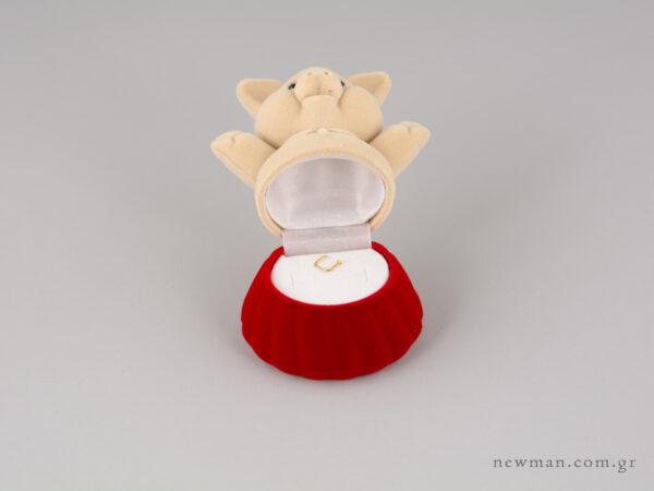 Παιδικό κουτί κοσμημάτων Γουρουνάκι Δίχρωμο