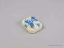 Παιδικά κουτιά κοσμημάτων για βαπτιστικό σταυρό σε εκρού χρώμα με σατέν κορδέλα κι έτοιμο φιόγκο σε σιέλ και χρώμα