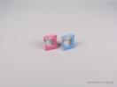000240Κουτί για παιδικά κοσμήματα σε σχήμα κορνίζας. Σε ροζ και σιέλ χρώμα για φυλαχτά και παιδικά δαχτυλιδάκια