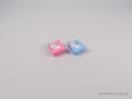 Κουτί για παιδικά κοσμήματα σε σχήμα κορνίζας. Σε ροζ και σιέλ χρώμα για φυλαχτά και παιδικά δαχτυλιδάκια