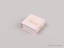 Παιδικό κουτί για μενταγιόν, φυλαχτό, σκουλαρίκια σε ροζ χρώμα που κλείνει με κουμπί