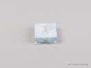 Παιδικό κουτί σε σιέλ χρώμα με κουμπί για φυλαχτό, ματάκι, μενταγιόν