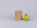 800399 Χάρτινη τσάντα kraft με λαβή φακαρόλα σε 4 χρώματα και διαστάσεις 11x5x14cm στο newman.com.gr