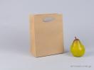 800400 Χάρτινη τσάντα kraft με λαβές φακαρόλα σε γκρι χρώμα στο newman.com.gr