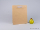 800401 χάρτινη τσάντα kraft με λαβές φακαρόλα σε 4 χρώματα