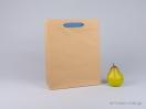 800402 Χάρτινη τσάντα kraft με λαβές φακαρόλα σε 4 χρώματα