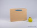 800403 Χάρτινη τσάντη kraft 35x12x25 cm με λαβές από βαμβακερή κορδέλα, φακαρόλα σε 4 χρώματα