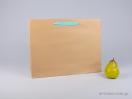 800407 Χάρτινη τσάντη kraft 42x10x32 cm με λαβές από βαμβακερή κορδέλα, φακαρόλα σε 4 χρώματα