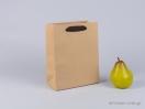 800409 Χάρτινη τσάντα kraft με λαβές φακαρόλα σε καφέ χρώμα στο newman.com.gr