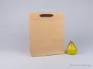 800410 Χάρτινη τσάντα kraft με λαβές φακαρόλα σε 4 χρώματα