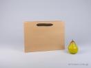 800411 Χάρτινη τσάντη kraft 35x12x25 cm με λαβές από βαμβακερή κορδέλα, φακαρόλα σε 4 χρώματα