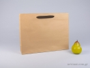 800412 Χάρτινη τσάντη kraft 42x10x32 cm με λαβές από βαμβακερή κορδέλα, φακαρόλα σε 4 χρώματα