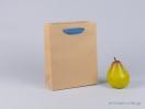 800414 Χάρτινη τσάντα kraft με λαβές φακαρόλα σε μπλε ραφ χρώμα στο newman.com.gr