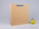 800415 Χάρτινη τσάντα kraft με λαβές φακαρόλα σε 4 χρώματα