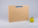 800416 Χάρτινη τσάντη kraft 42x10x32 cm με λαβές από βαμβακερή κορδέλα, φακαρόλα σε 4 χρώματα