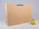800417 Χάρτινη τσάντη kraft 55x15x39 cm με λαβές από βαμβακερή κορδέλα, φακαρόλα σε 4 χρώματα